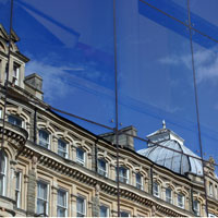 Cardiff: Reflections on Queen Street